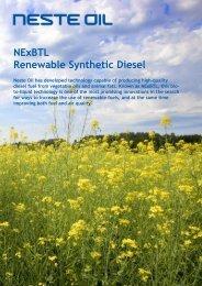 NExBTL Renewable Synthetic Diesel - California Climate Change ...