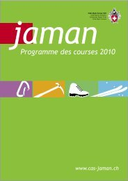 Programme des courses 2010 - Club Alpin Suisse Section Jaman