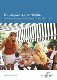 Die exclusiven Comfort-Markisen Novetta Basis ... - Ranft GmbH