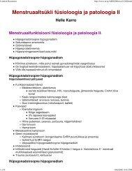 Menstruaaltsükli füsioloogia ja patoloogia II - Perearstikeskus.ee