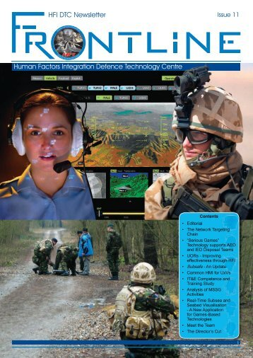 Frontline - Human Factors Integration Defence Technology Centre ...