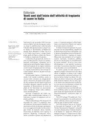 Editoriale Venti anni dall'inizio dell'attività di trapianto di cuore in Italia