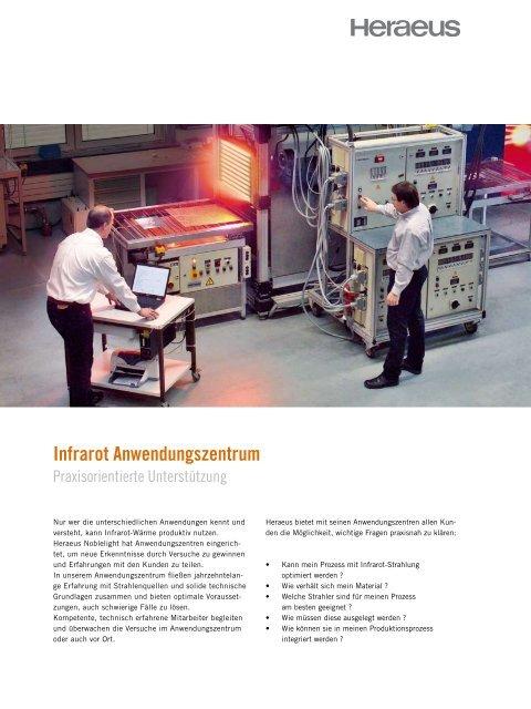 Produktname Infrarot Anwendungszentrum - Photovoltaics