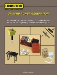 Power Generation Products Catalog - Unisorb Installation ...