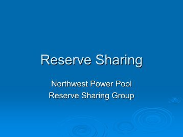 Reserve Sharing