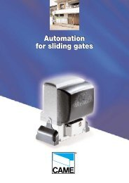 Automation for sliding gates Automation for sliding ... - Country Gates