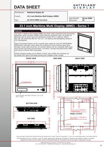 hd 24t21 std industrial display 24 inch widescreen hatteland. Black Bedroom Furniture Sets. Home Design Ideas