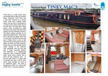 Narrowboat Tinky Mac's - Rugby Boat Sales