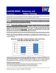 CANCER BRIEF: Melanoma and Indoor Tanning - American Cancer ...