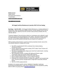 HD Supply Facilities Maintenance Launches 2012 Full-Line Catalog