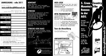 5. Cross - Country Mountainbike Rennen in der ... - AGIL macht Sport