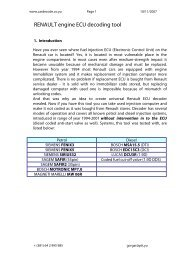 RENAULT engine ECU decoding tool