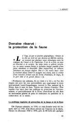 Domaine réservé : la protection de la faune au ... - Politique Africaine