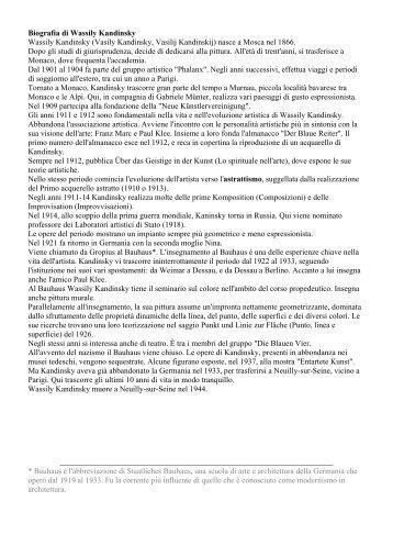 Approfondimento su Kandinsky - La Teca Didattica