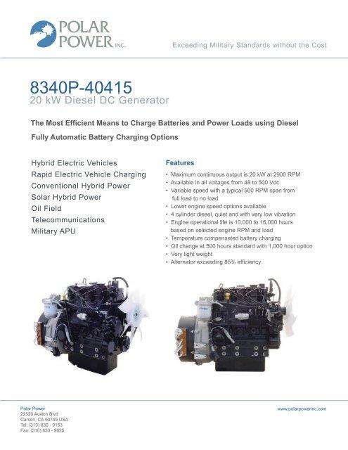 20 KW Diesel DC Generator
