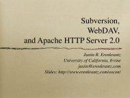 OSCON 2003 Subversion WebDAV - Justin R. Erenkrantz