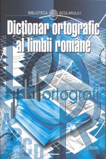 Dictionar ortografic al limbii romane pentru elevi