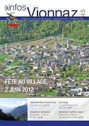 FÊTE AU VILLAGE, 2 JUIN 2012 p.14-15 - Commune de Vionnaz