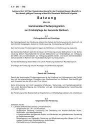 Kommunales Förderprogramm - Gemeinde Wollbach