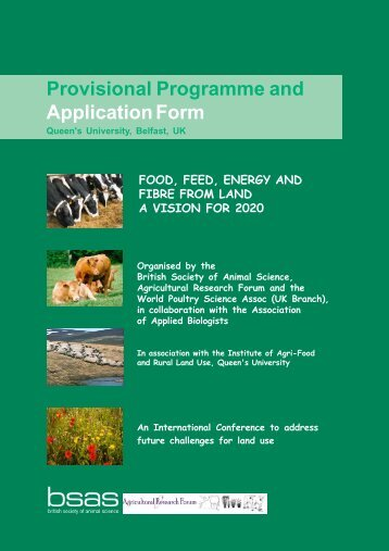 Provisional Programme and ApplicationForm - Association of ...