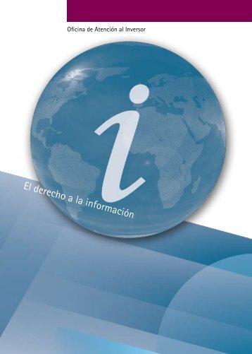 El derecho a la información - Bolsa de Madrid