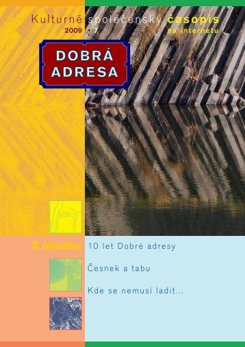 DA 07/2009 - Dobrá adresa