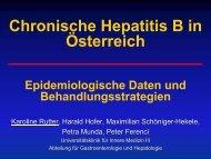 Chronische Hepatitis B in Österreich Epidemiologische Daten und ...