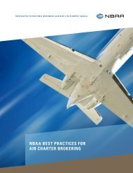 Download the NBAA Best Practices for Air Charter Brokering
