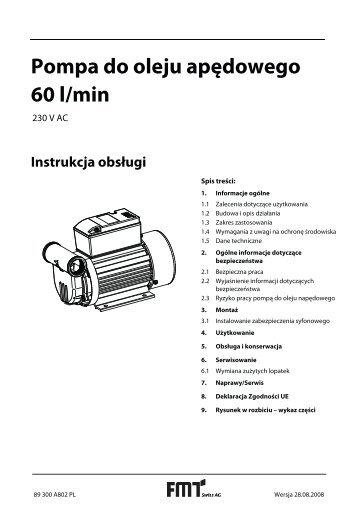 Pompa do oleju apędowego 60 l/min - FMT Swiss AG