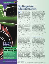 Digital Images in the Mathematics Classroom