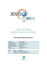 D8.3 2020 3D Media Showcase 1
