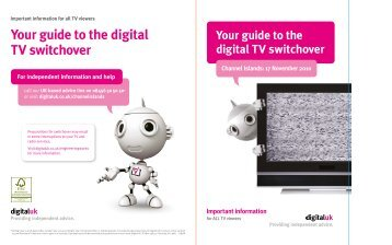 Your guide to the digital TV switchover - Digital UK