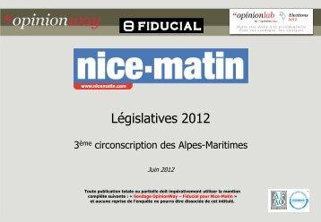 3ème circonscription des Alpes-Maritimes - Fiducial ... - Opinionway