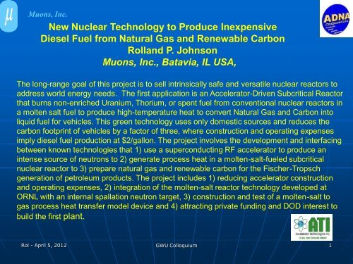 New Nuclear Technology of Produce Inexpensive Diesel Fuel