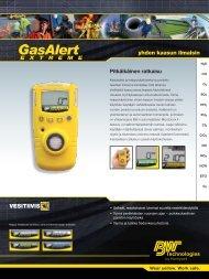 yhden kaasun ilmaisin - BW Technologies Ltd.