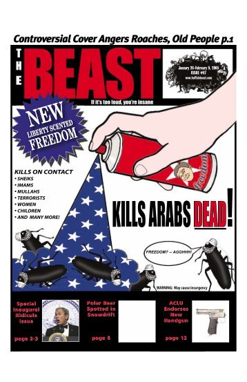 Controversial Cover Angers Roaches, Old People p.1 - The Beast