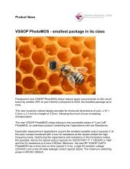 VSSOP PhotoMOS - smallest package in its class