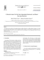 Coherent states for the time dependent harmonic oscillator: the step ...