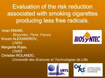 Evaluation Of The Risk Reduction Associated With Smoking