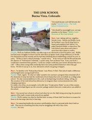 THE LINK SCHOOL Buena Vista, Colorado - Make Your Own ...