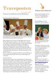 Tvareposten nr 1/2012 - Ny Nordisk Mat