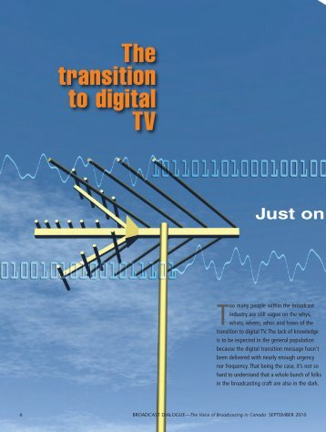 The transition to digital TV - Broadcast  Dialogue