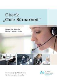 """Check """"Gute Büroarbeit"""" (PDF) - Deutsches Netzwerk Büro"""