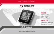 BC 1609 - Sigma Sport