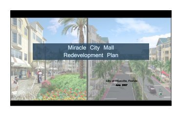 Miracle City Mall Redevelopment Plan - The City of Titusville, Florida