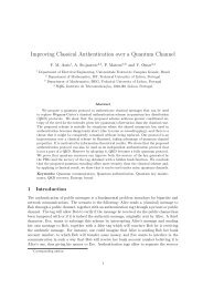 Improving Classical Authentication over a Quantum Channel - SQIG