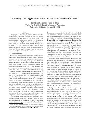 Reducing Test Application Time for Full