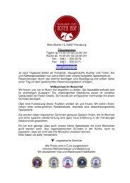 Speisekarte als PDF - Roter Hof, Flensburg