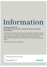 OpenScape Office MX Die Unified Communications Lösung für ...