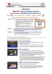 The 8th Hong Kong Forum - Hong Kong Business Association Vietnam